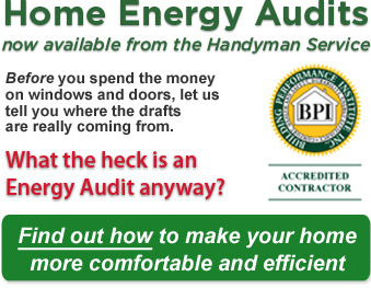 Home Energy Audits now available from the Handyman Service -- Energize Delaware, Make Saving Energy Easy!